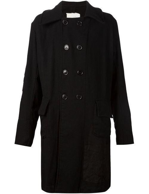 GREG LAUREN | Мужское Чёрное Двубортное Пальто