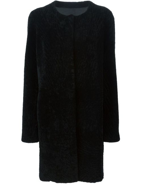 METEO BY YVES SALOMON | Женское Чёрное Двухстороннее Пальто