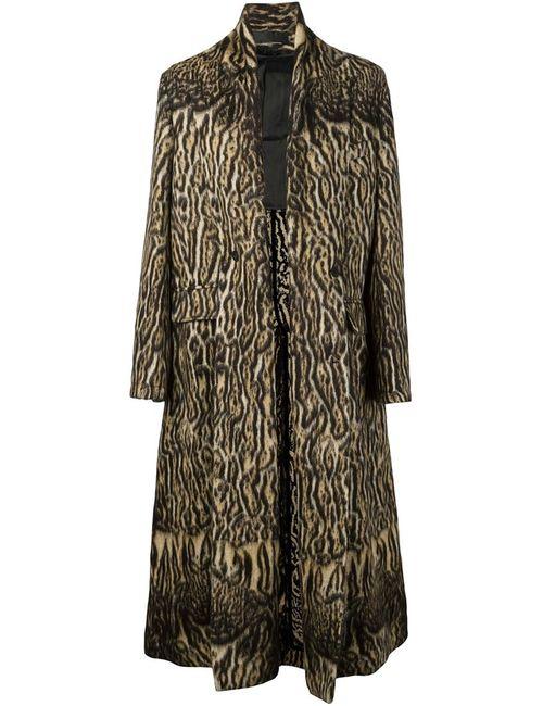 Haider Ackermann | Мужское Коричневое Длинное Пальто С Тигровым Принтом