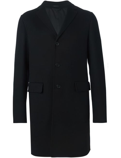 Jil Sander | Мужское Чёрное Однобортное Пальто