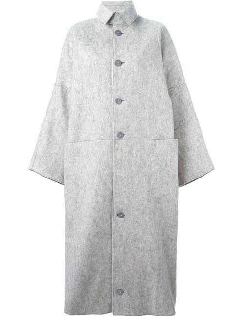 TOOGOOD | Женское Серое Пальто На Пуговицах