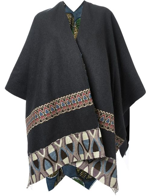 ERMANNO GALLAMINI | Женское Серый Embroidered Reversible Cape