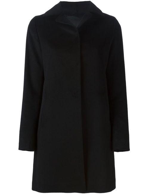 Herno | Женское Чёрное Однобортное Пальто