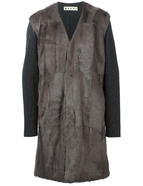Marni | Мужское Серый Faux-Fur Coat