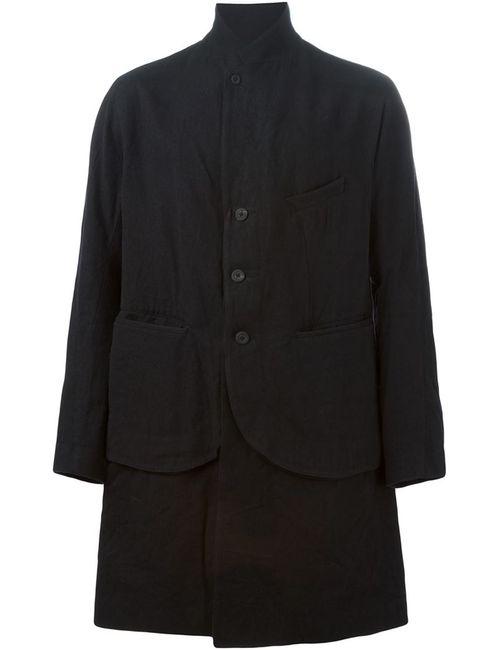 ZIGGY CHEN | Мужское Чёрное Многослойное Пальто