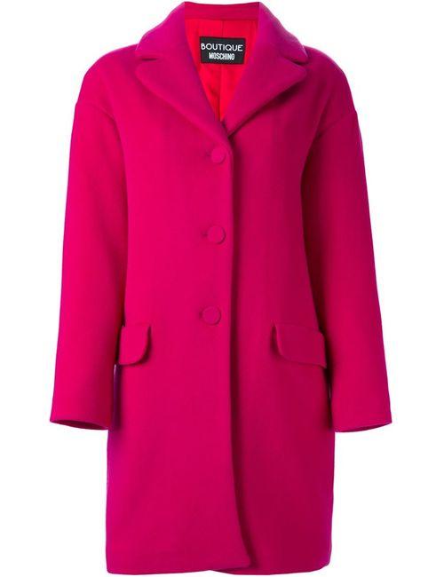 BOUTIQUE MOSCHINO | Женское Розовое Однобортное Пальто
