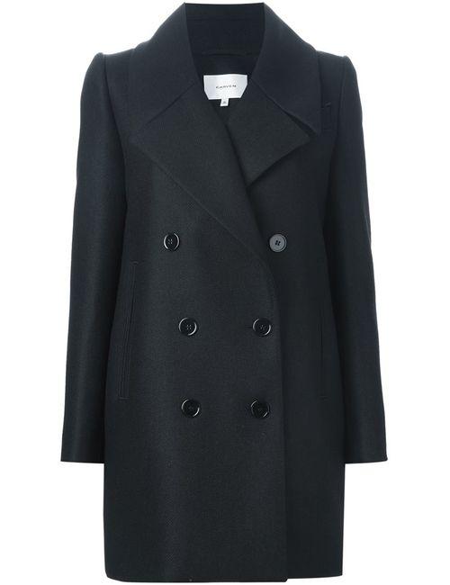 Carven | Женское Чёрное Двубортное Пальто