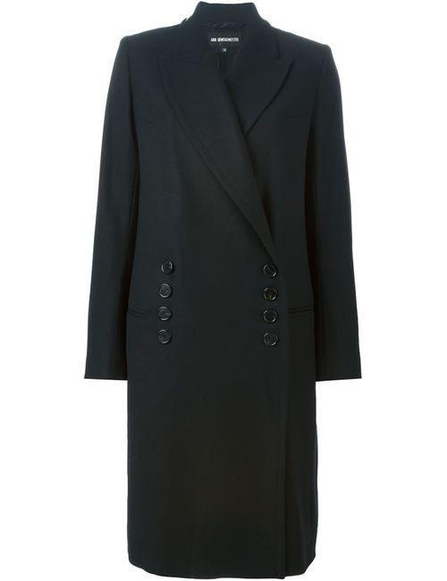 Ann Demeulemeester | Женское Чёрное Двубортное Пальто