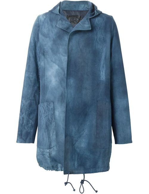 PIGALLE | Мужская Синяя Парка С Узором Tie-Dye