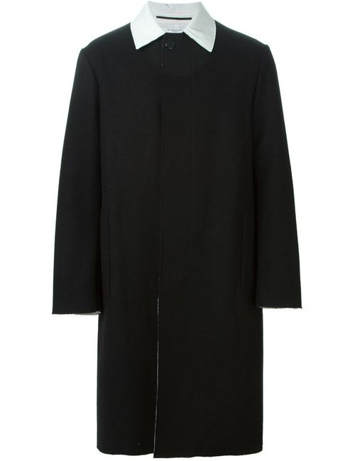 Givenchy | Мужское Чёрное Пальто С Контрастным Воротником