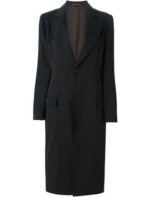Yohji Yamamoto | Женское Чёрное Однобортное Пальто