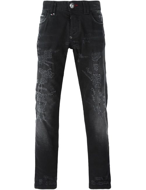 Philipp Plein | Мужское Чёрный Highlights Straight Leg Jeans