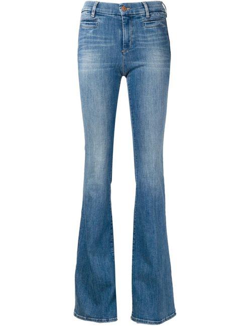 Mih Jeans | Женские Синие Расклешенные Выбеленные Джинсы