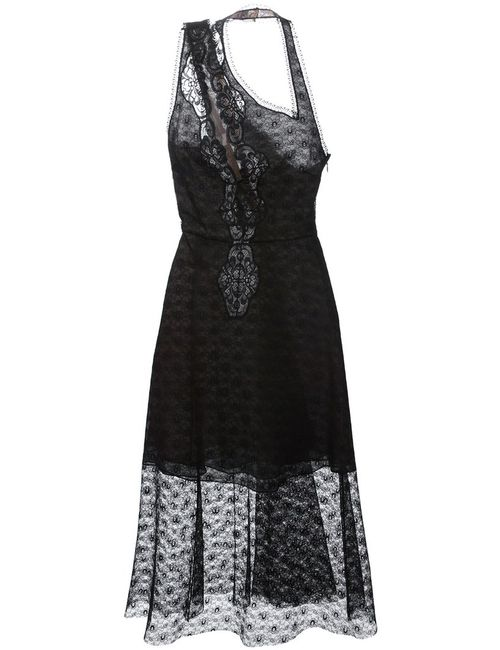 Stella Mccartney | Женское Черный Asymmetric Lace Dress