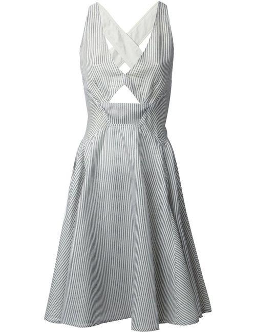 Stella Mccartney | Женское Серый Striped Skater Dress
