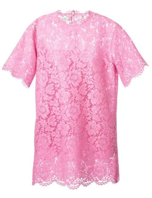 Valentino | Женское Розовый Lace Shift Dress