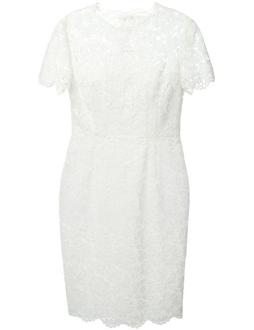 Valentino | Женское Белое Приталенное Кружевное Платье