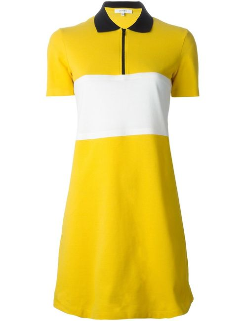 Carven | Женское Желтый Contrasting Stripe Polo Dress