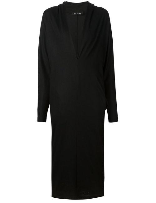 ZAID AFFAS | Женское Чёрное Платье С Глубоким V-Образным Вырезом