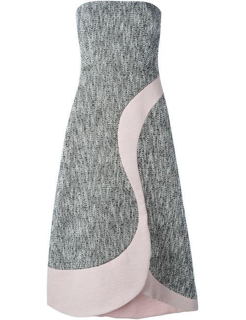 ROKSANDA | Женское Чёрное Твидовое Платье Без Лямок