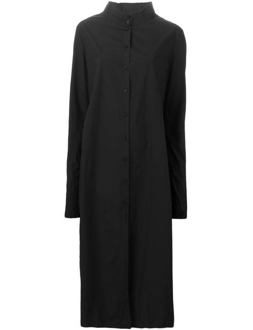 Rundholz | Женское Черный Платье-Рубашка С Воротником-Стойкой