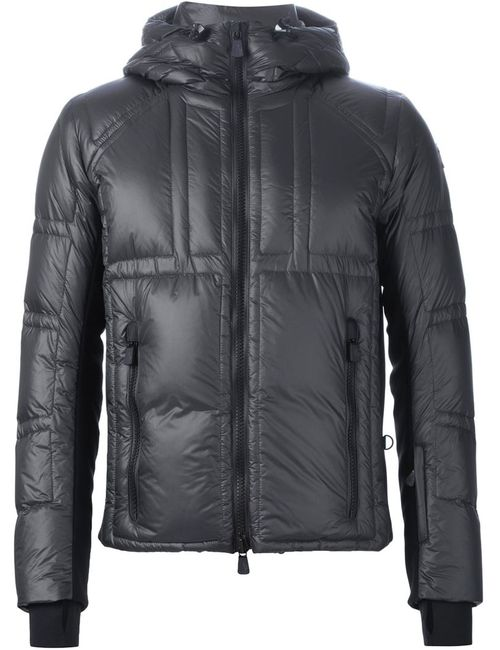 Moncler Grenoble   Мужская Серая Дутая Куртка С Капюшоном