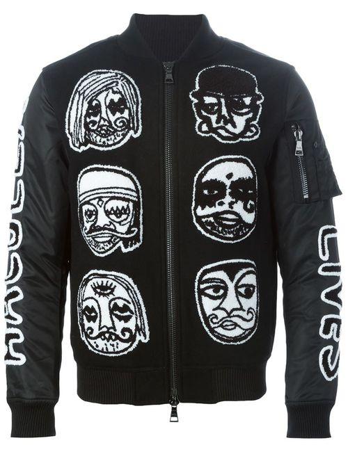 HACULLA | Мужская Чёрная Куртка-Бомбер С Нашивками