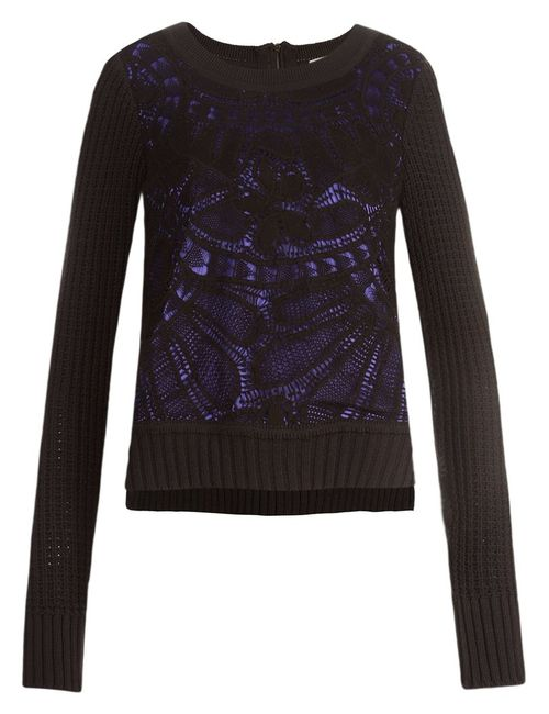 MARTHA MEDEIROS | Женское Чёрный Crochet Sweater
