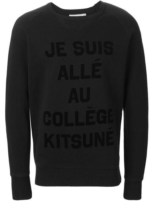 Maison Kitsune | Мужское Чёрный Je Suis Allé Au Collège Kitsuné Sweatshirt