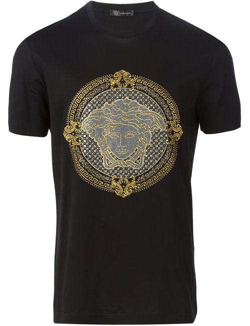Versace   Черный Medusa T-Shirt