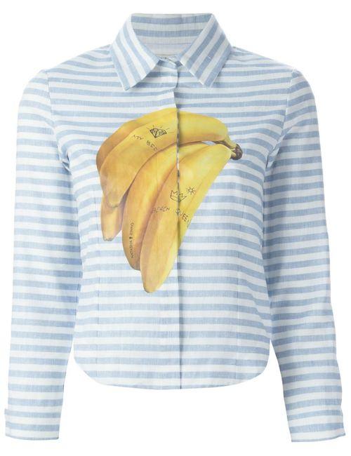 Natasha Zinko | Женская Синяя Рубашка С Принтом Бананов