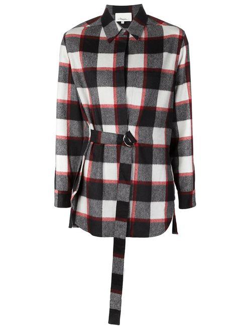 3.1 Phillip Lim | Женская Черный Фланелевая Рубашка В Клетку
