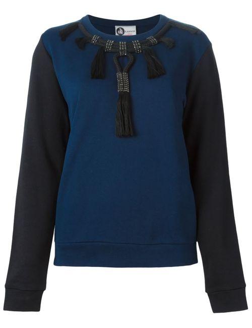 Lanvin | Женская Синяя Декорированная Толстовка Колор-Блок