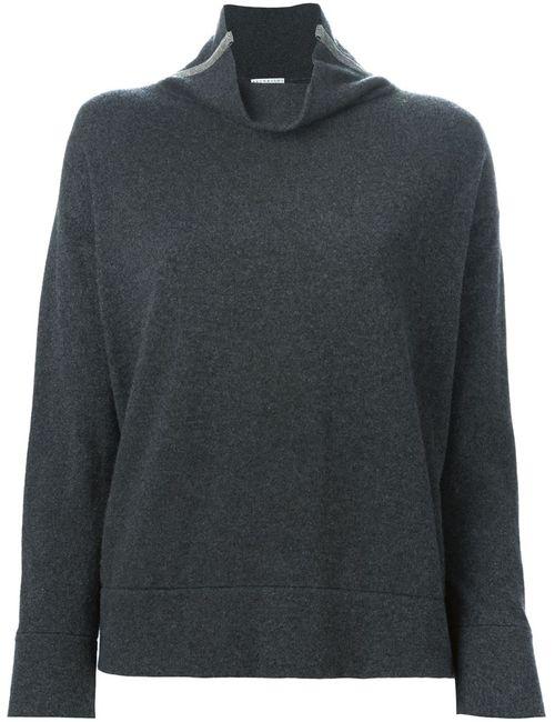 Brunello Cucinelli | Женское Серый Loose Fit Roll Neck Sweater