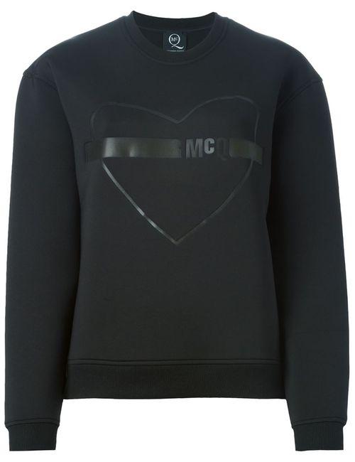 Mcq Alexander Mcqueen | Женская Чёрная Толстовка С Изображением Сердца