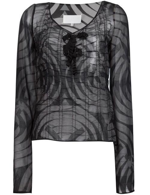 Maison Margiela | Женская Черный Блузка Со Сборками