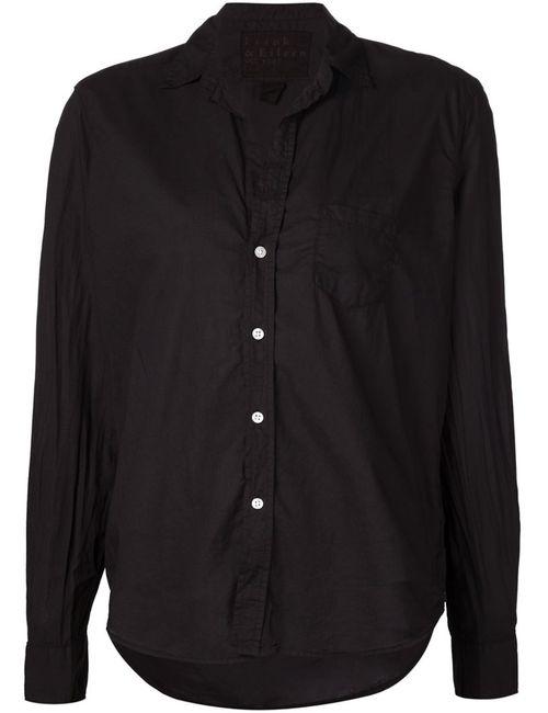 FRANK & EILEEN | Женская Чёрная Плиссированная Рубашка