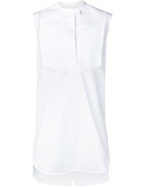 Ellery   Женская Белая Длинная Рубашка Без Рукавов
