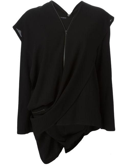 Ann Demeulemeester | Женское Чёрный Zip Detail Draped Blouse