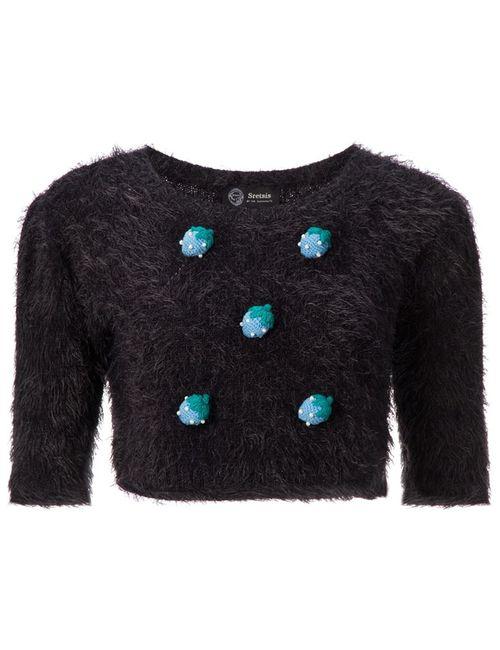 SRETSIS | Женское Чёрный Fluffy Sweater