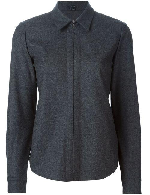 Theory | Женская Серая Фланелевая Рубашка Layaan На Молнии