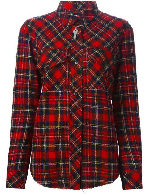 Filles A Papa | Женская Красная Рубашка Toxic В Клетку
