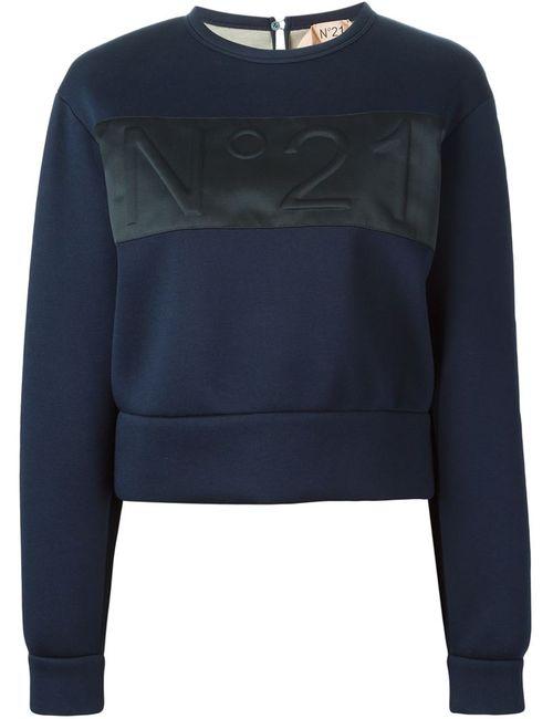 No21 | Женское Синий Embossed Logo Sweatshirt