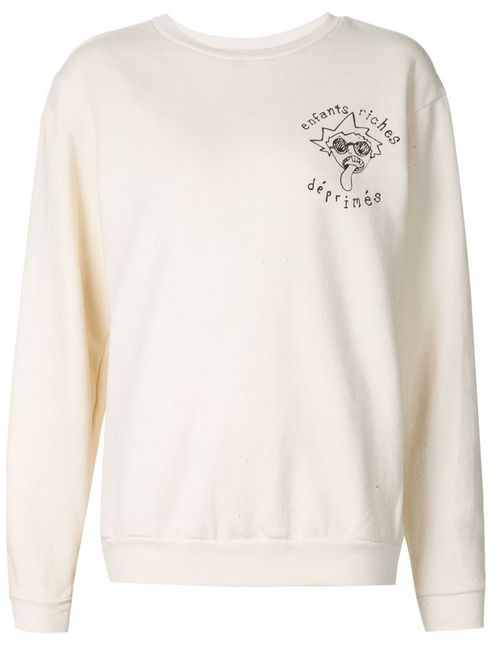 ENFANTS RICHES DEPRIMES | Женское Белый Chest Logo Sweatshirt