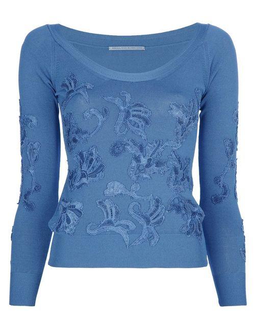 Ermanno Scervino | Женское Синий Embellished Long Sleeve Top