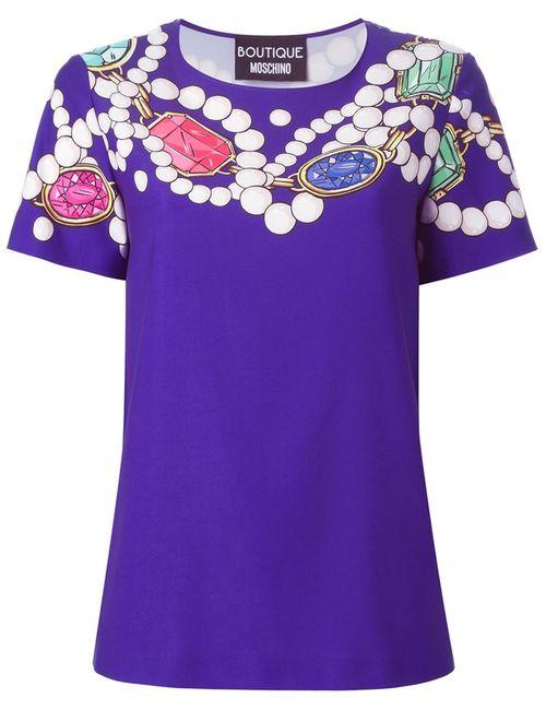 Love Moschino | Женское Розовый Gem Print T-Shirt
