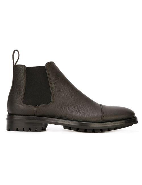 Lanvin | Мужские Коричневые Ботинки Челси На Рифленой Подошве