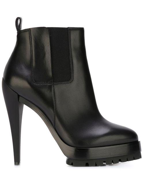 Casadei | Женские Чёрные Ботинки На Платформе