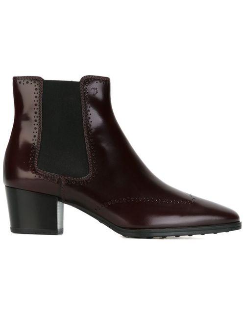 Tod'S | Женские Красные Ботинки По Щиколотку