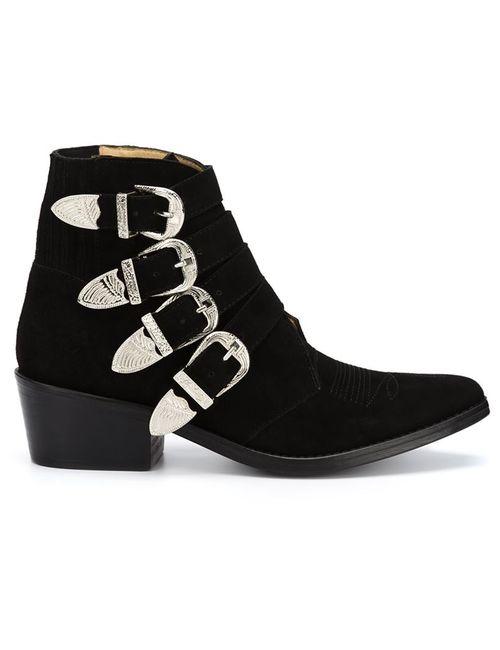 Toga Pulla | Женские Чёрные Ботинки С Ремешками На Пряжке
